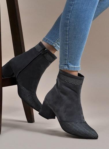 Vizon Ayakkabı Bot Gri